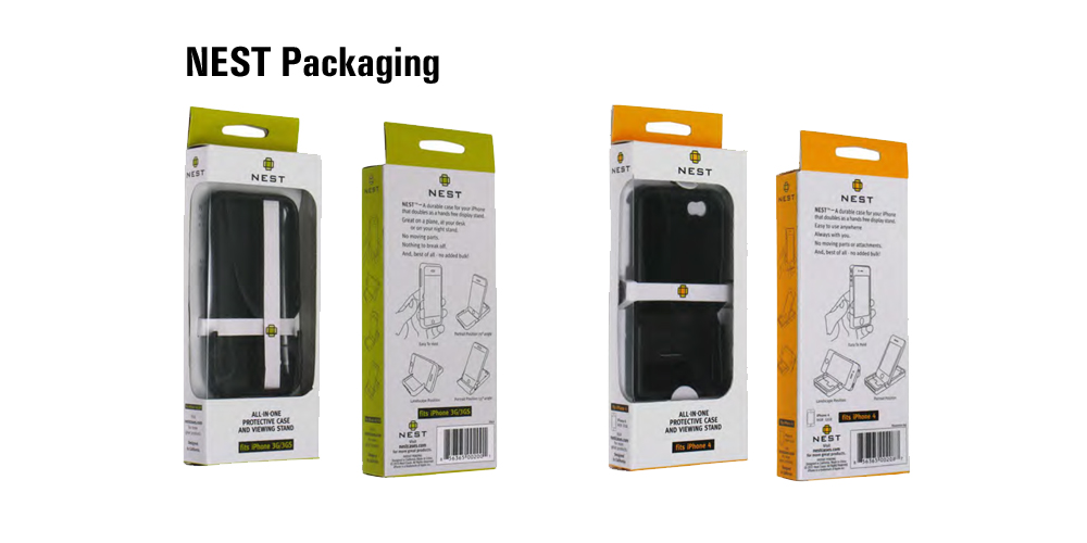 Nest Case for iPhone Packaging